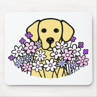 Beautiful Soul Yellow Labrador Illustration Mouse Pads
