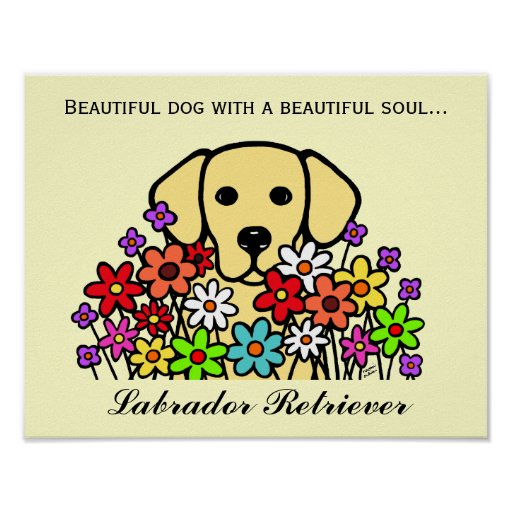 Beautiful Soul Yellow Labrador Illustration Poster