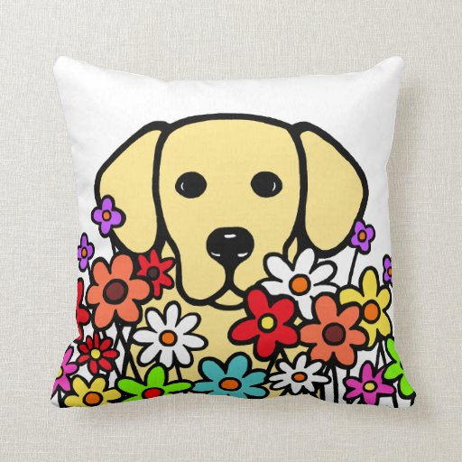 Beautiful Soul Yellow Labrador Illustration Throw Pillow