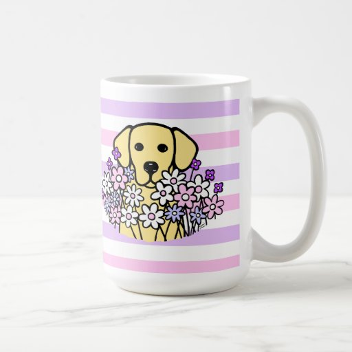 Beautiful Soul Yellow Labrador Stripes Mug