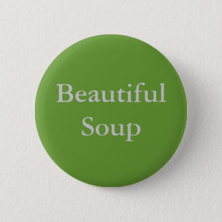 Beautiful Soup Pinback Button