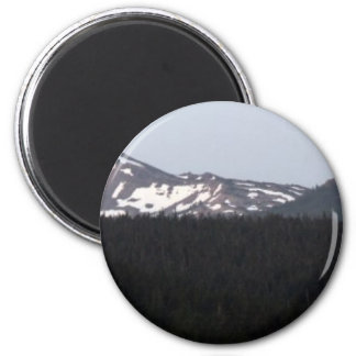 Beautiful Southern Oregon Cascades 2 Inch Round Magnet