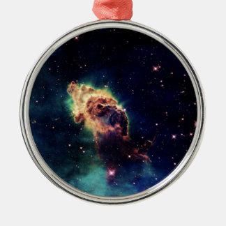 Beautiful Space Nebula Metal Ornament