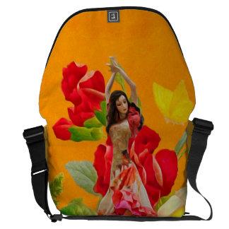 Beautiful Spanish Dancer Roses Courier Bag
