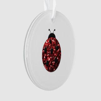 Beautiful Sparkling red sparkles Ladybird Ladybug Ornament