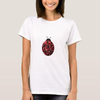 Beautiful Sparkling red sparkles Ladybird Ladybug T-Shirt