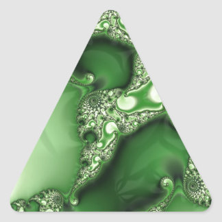 Beautiful Spearmint Fractal Lace Triangle Sticker
