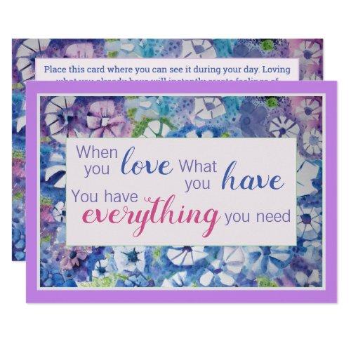 Beautiful Spiritual Practice Affirmation Card