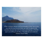 Beautiful Spiritual Quote OCEAN PICTURE POSTER