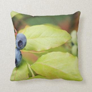 Beautiful Spring Blueberries Throw Pillow