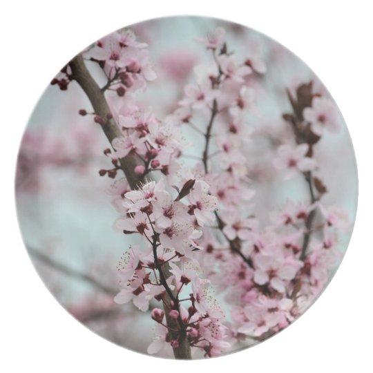 Beautiful Spring Cherry Blossom Dinner Plate