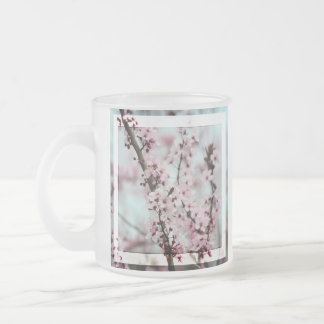 Beautiful Spring Cherry Blossom 10 Oz Frosted Glass Coffee Mug