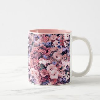 Beautiful Spring Floral Two-Tone Coffee Mug