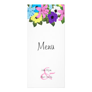 Beautiful Spring Floral Wedding Menu