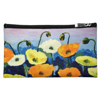 Beautiful spring flowers cosmetic bag