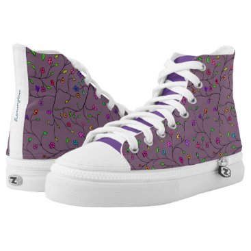 Beautiful Spring Flowers Garden High-Top Sneakers