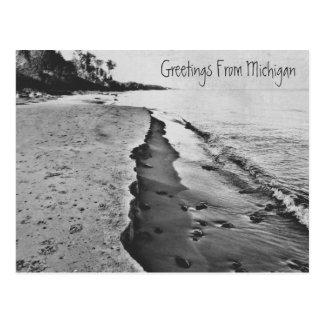 Beautiful Spring Lake Michigan Shoreline Beach Postcard