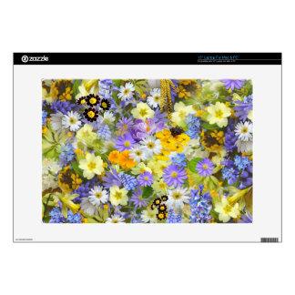 Beautiful Spring Meadow Flowers PC Mac Laptop Skin