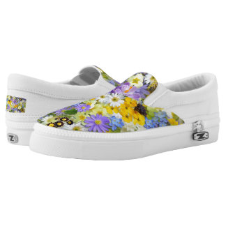 Beautiful Spring Meadow Flowers Slip-On Shoes