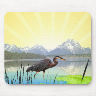 Beautiful spring nature scenery mouse pad