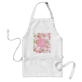 Beautiful Spring pink watercolor peach flowers Adult Apron
