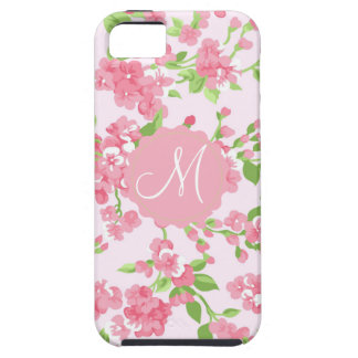 Beautiful Spring pink watercolor peach flowers iPhone SE/5/5s Case