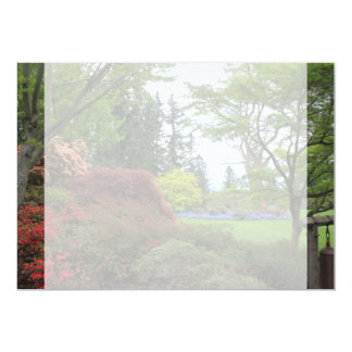 beautiful spring, summer garden picture blank personalized invitations