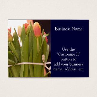 Beautiful Spring Tulip Bouquet Business Card