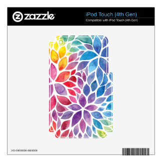 Beautiful Spring Watercolors Skin For iPod Touch 4G
