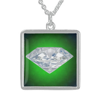 Beautiful Square Custom Sterling Silver Necklace