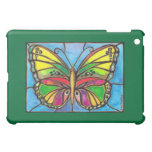 Beautiful Stained Glass Butterfly Watercolor Art! Cover For The iPad Mini