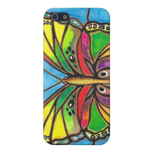 Beautiful Stained Glass Butterfly Watercolor Art! iPhone 5 Cover