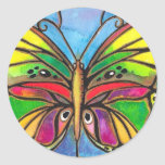Beautiful Stained Glass Butterfly Watercolor Art! Sticker