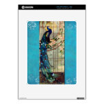 Beautiful Stained Glass Peacock Decal For iPad