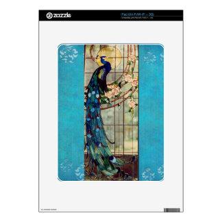 Beautiful Stained Glass Peacock iPad Skin