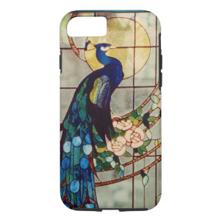 Beautiful Stained Glass Peacock iPhone 7 Case