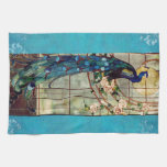 Beautiful Stained Glass Peacock Kitchen Towel