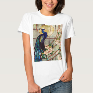 Beautiful Stained Glass Peacock Shirt