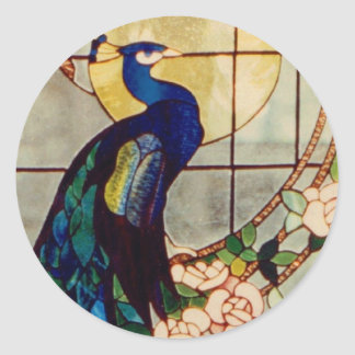 Beautiful Stained Glass Peacock Stickers
