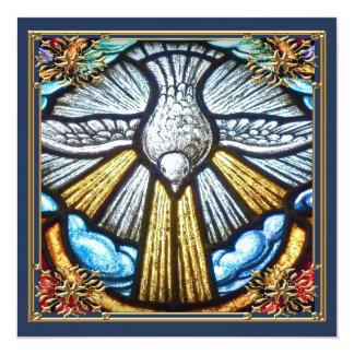 Beautiful Stained Glass Window Dove Mourning Cards
