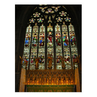 Beautiful Stained Glass Window Post Card