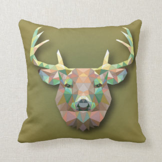 Beautiful stamp pad moose. throw pillow