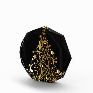 Beautiful starry metallic gold Christmas tree Award