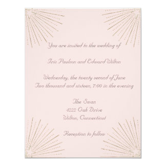 Beautiful Stars Wedding Invitation
