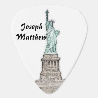 Beautiful Statue of Liberty - New York City, NY Guitar Pick