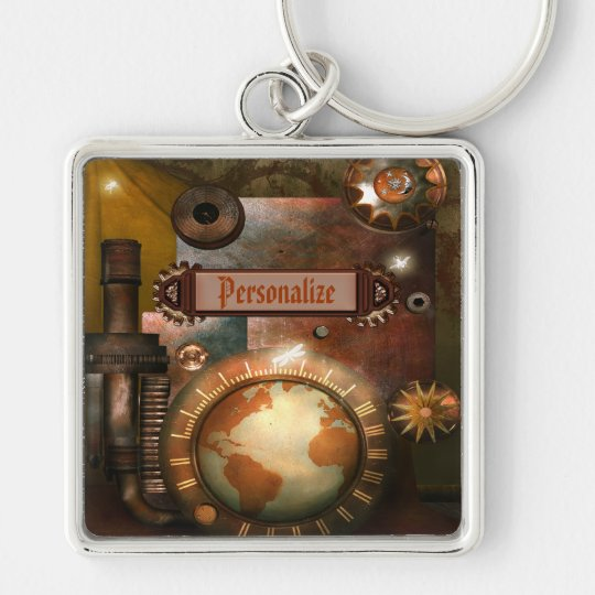 Beautiful Steampunk Personalized Key Chain