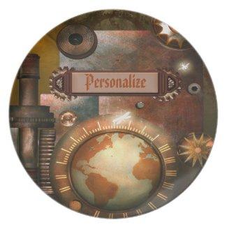 Beautiful Steampunk Personalized Plate fuji_plate