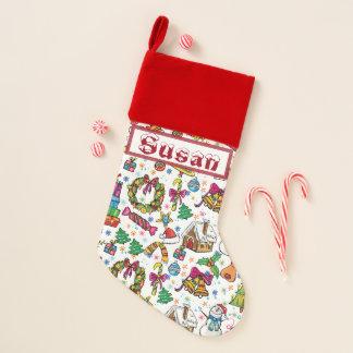 Beautiful Stocking Cute doodle clip art name