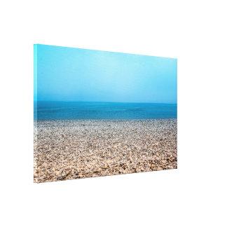 Beautiful Stone Beach Canvas Print