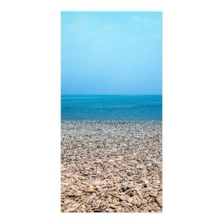 Beautiful Stone Beach Photo Card